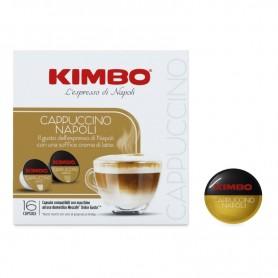 Cappuccino Napoli - Capsule Compatibili Dolce Gusto - Caffè Kimbo